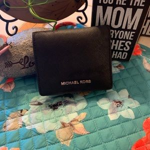 Michael Kors Small Black Wallet Cash/Credit Holder